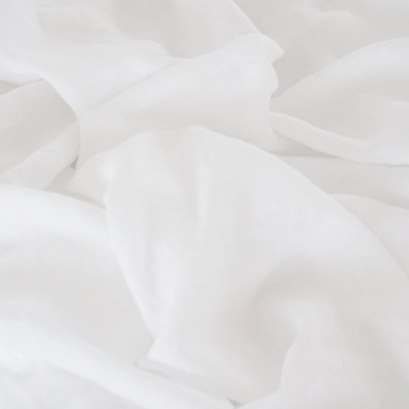 Washed linen - Whisper White Duvet Cover