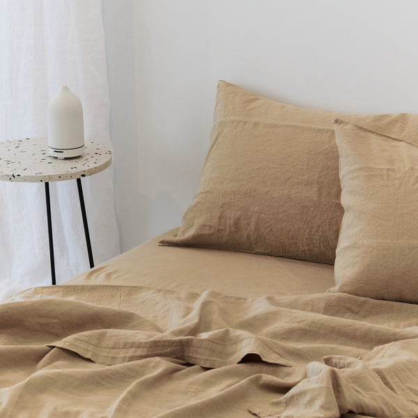 Coco Linen - Latte Fitted sheet