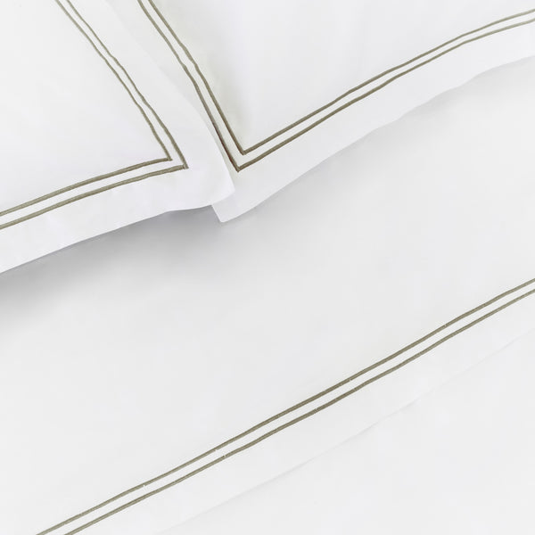 Luxe Cotton - Moss Flat Sheet