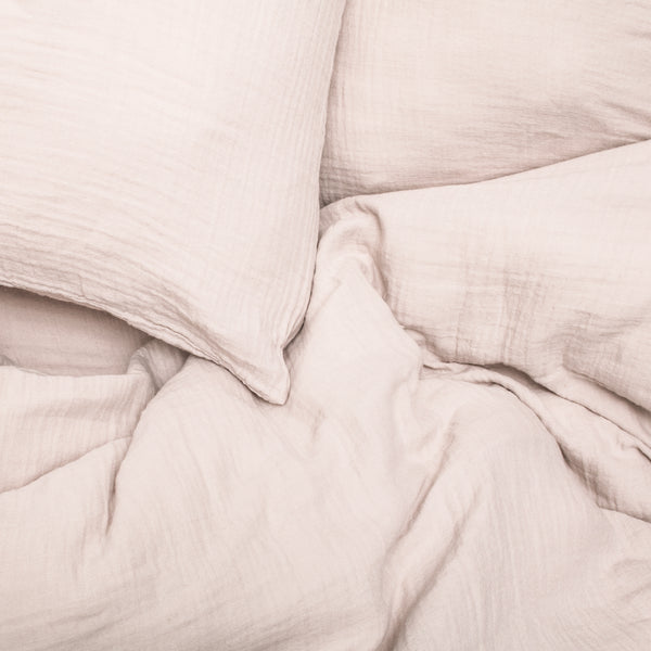 Muslin Cotton - Blush Pillowcase Set