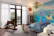 Boy Room Wallpaper - Light up New York