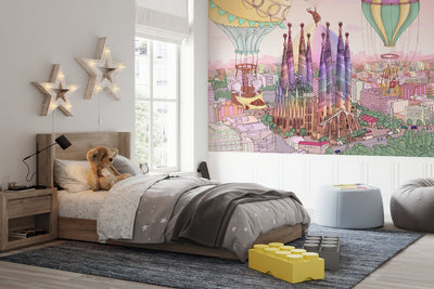 Girl Room Wallpaper - Rainbow Lights Barcelona
