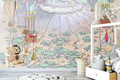 Nursery Wallpaper - Climbing Kilimanjaro