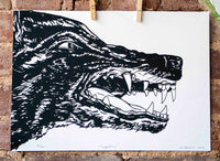 Impending Wolf Print