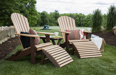 Image of Berlin Gardens Berlin Gardens Comfo-Back Folding Adirondack Chair