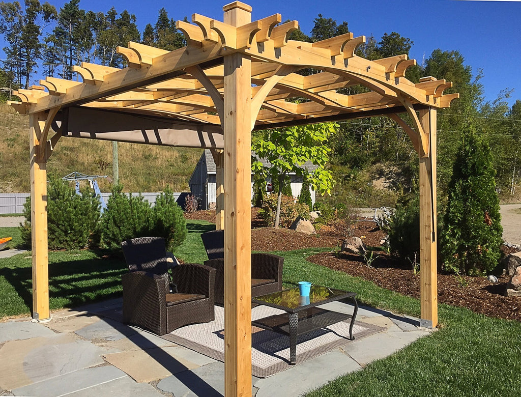 ... Pergola Kit 10' x 12'. Tap to expand - Outdoor Living Today Arched Breeze Pergola Kit 10' X 12' BZ1012ARCH