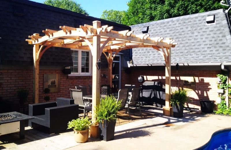 Tap to expand - Outdoor Living Today Arched Breeze Pergola Kit 10' X 12' BZ1012ARCH