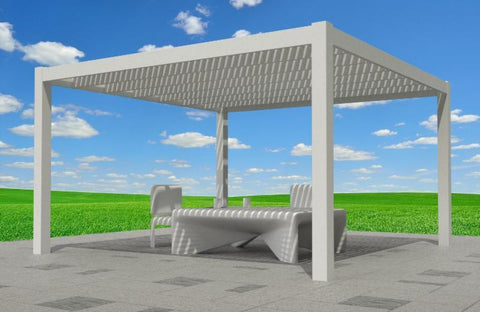 Image of Peaceful Patios Freestanding Contemporary Vinyl Pergola - White