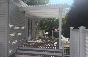 Peaceful Patios Peaceful Patios 12' x 12' Attached Vinyl Pergola