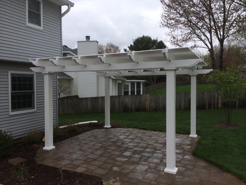 Image of Peaceful Patios Peaceful Patios 12' x 12' Freestanding Vinyl Pergola