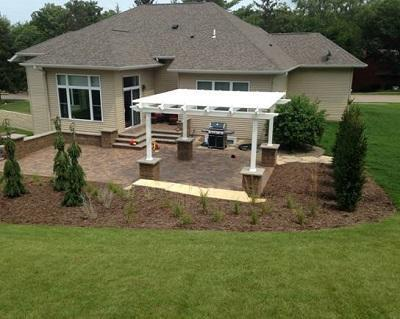 Image of Peaceful Patios Peaceful Patios 14' x 14' Freestanding Vinyl Pergola