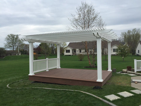 Peaceful Patios Peaceful Patios 16' x 16' Freestanding Vinyl Pergola
