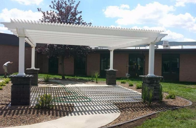 Peaceful Patios Peaceful Patios 24' x 24' Freestanding Vinyl Pergola