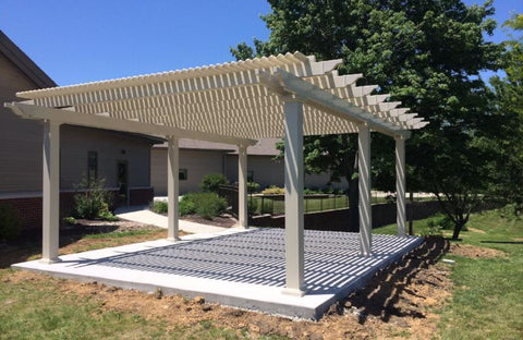 Image of Peaceful Patios Peaceful Patios 24' x 24' Freestanding Vinyl Pergola