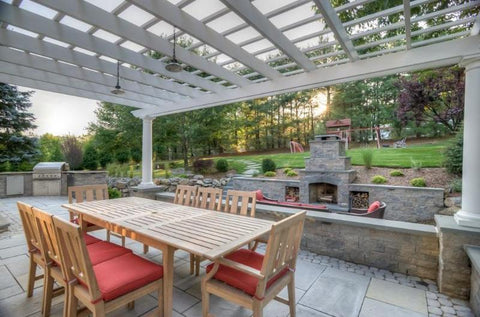 Image of Custom Freestanding Fiberglass Pergola - Peaceful Patios
