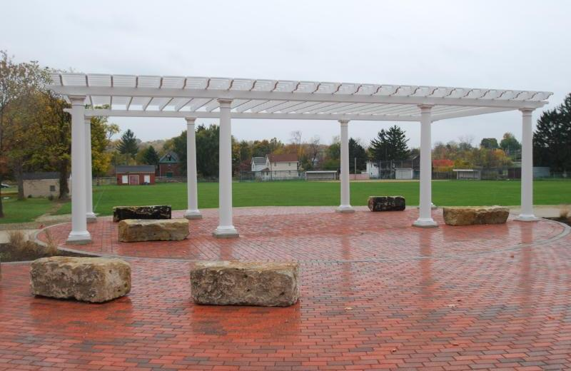 Custom Freestanding Fiberglass Pergola - Peaceful Patios