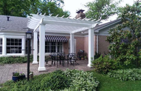 Peaceful Patios Square Column Stock Fiberglass Pergola