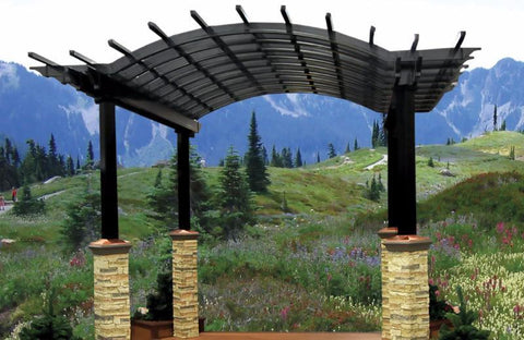 Image of Superior Country Accents Superior Country Accents Aluminum Arched Pergola