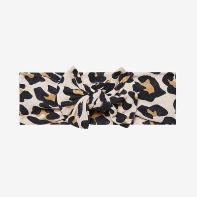 Posh Peanut Lana Leopard Tan Infant Headwrap
