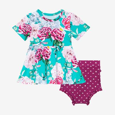 Posh Peanut Eloise Peplum Top and Bloomer Set