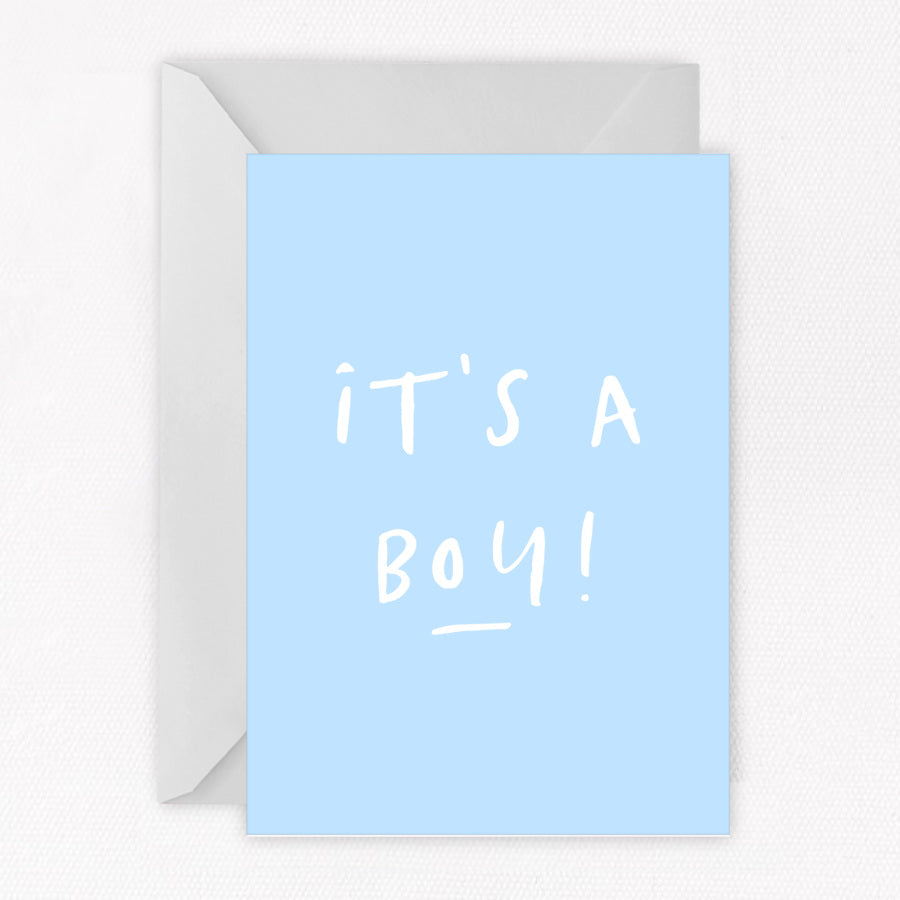 It's A Boy New Baby Card - Sorted Gifts