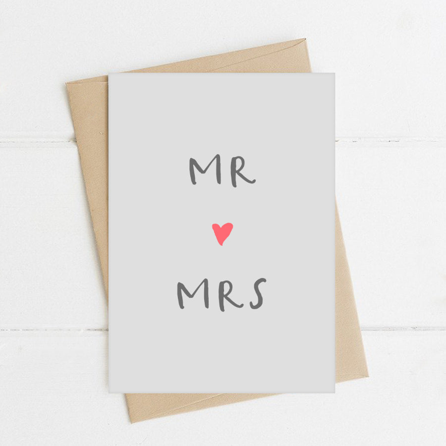 Mr And Mrs Heart Card - Sorted Gifts