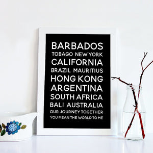 Personalised Destination Bus Blind Print