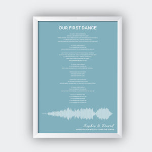 Personalised Sound Wave Music Song Lyrics Print - Sorted Gifts