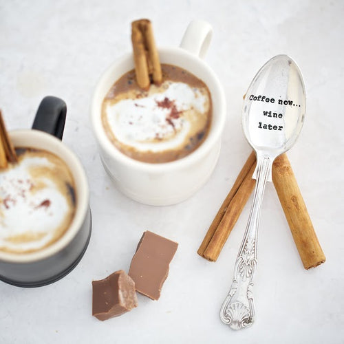 Coffee Now Wine Later Teaspoon - Sorted Gifts