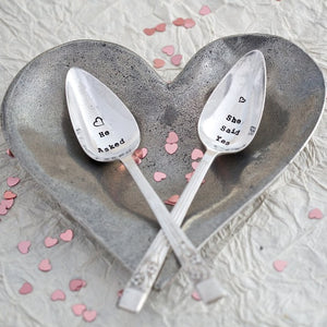 He Asked She Said Yes Teaspoon Set - Sorted Gifts