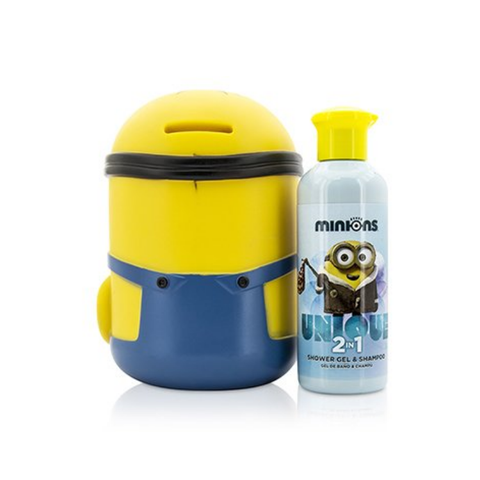 Image of Minions Coffret: Money Box + Shower Gel & Shampoo