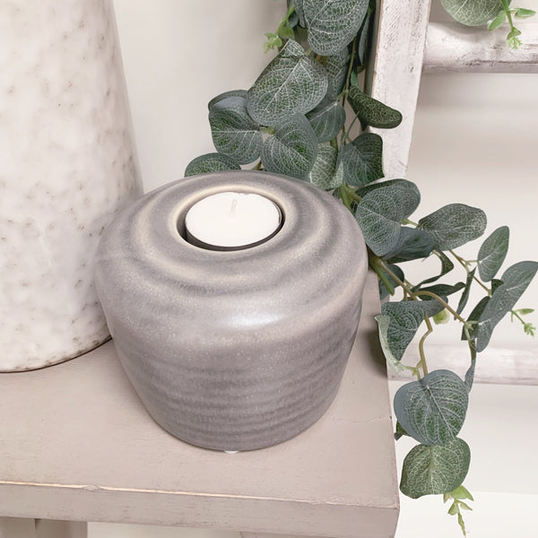 Grey Tea-Light Holder