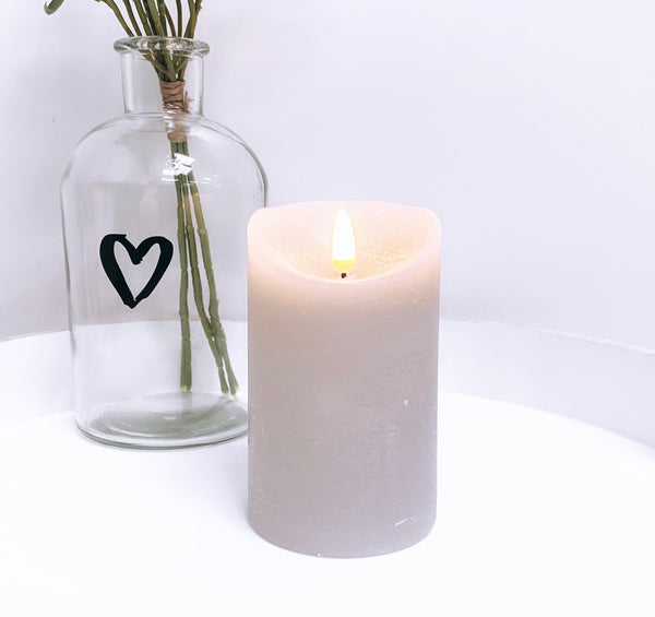 LED Real Feel Grey Candles
