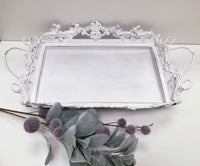 Ornate Rectangle Metal Tray
