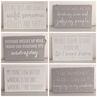 Grey and White Plaques