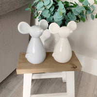 Grey Ceramic Mouse (3 Sizes Available)
