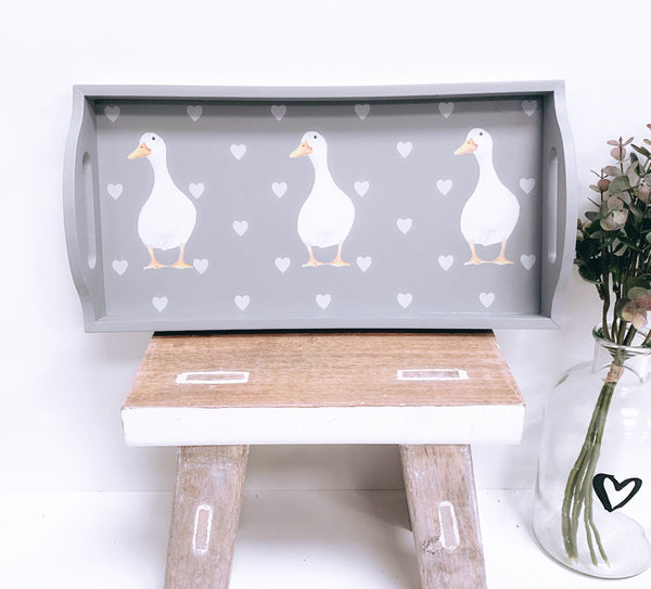 Three Duck Grey Tray
