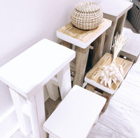 Mango Wood Stool - 2 sizes / 3 Colours available