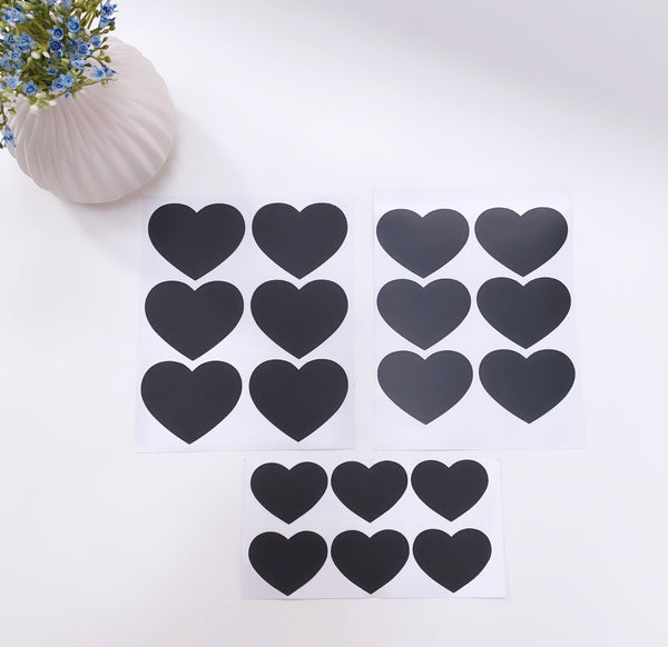 Chalk Board Heart Stickers