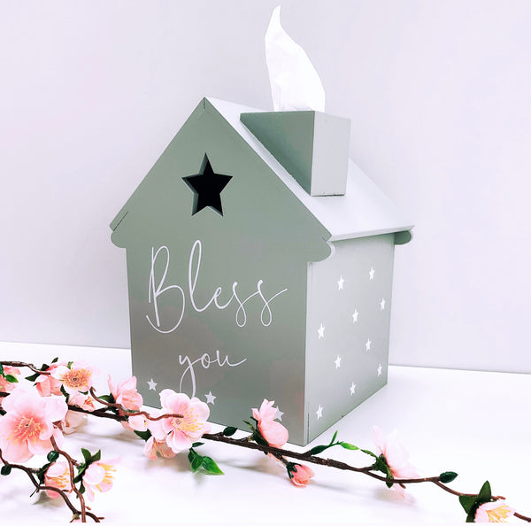 PRE-ORDER Tissue House in Grey - Bless You (Star Detail) *Exclusive Design*