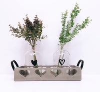 Grey Heart Trug