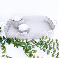 Lace Effect Metal Tray