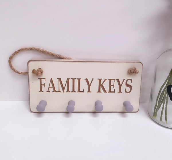 Family Keys Wall Plaque