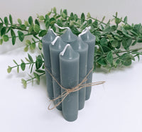 Set of 6 Blue Candles