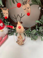 Wooden Freestanding Moose with Tree
