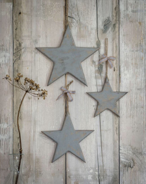 Grey Wooden Hanging Stars