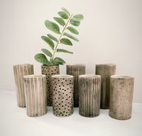 Taupe/Grey Mini Tube Vases