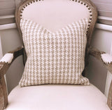 Luxury Houndstooth Knitted Cushion