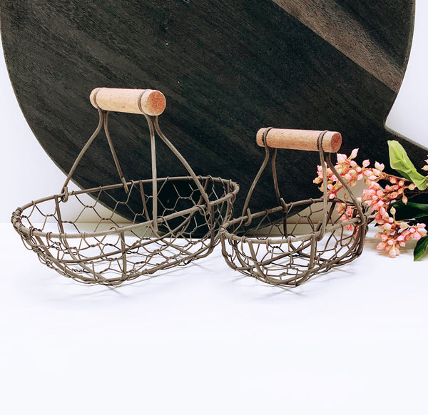 Oval Wire Rustic Basket - 2 Sizes Available
