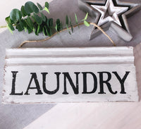 Extra Large Wooden Laundry Sign